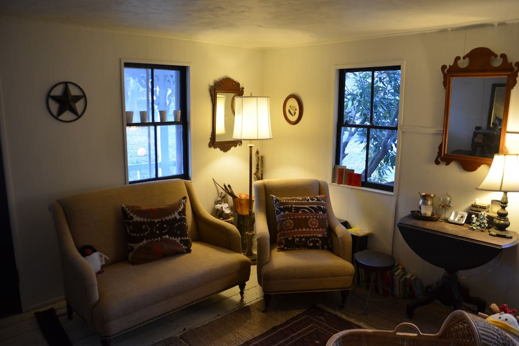 After dinner, why not spend time with friends and family in this cozy living room?