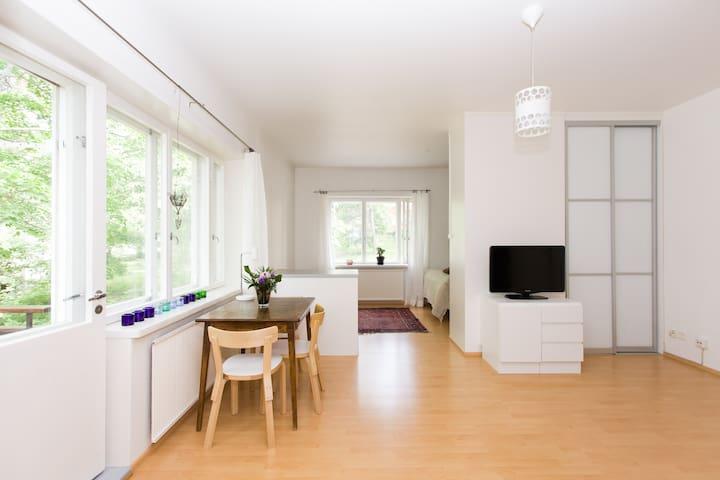 Nice and light flat in leafy Käpylä