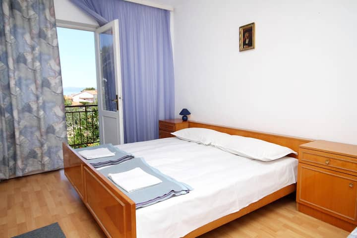 Studio flat with balcony and sea view Tučepi, Makarska (AS-6695-e)