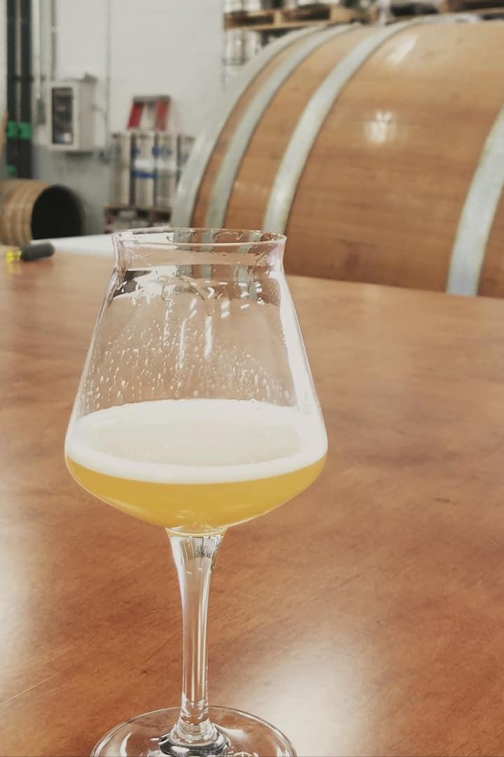 Tasting at Hudson Valley Brewery