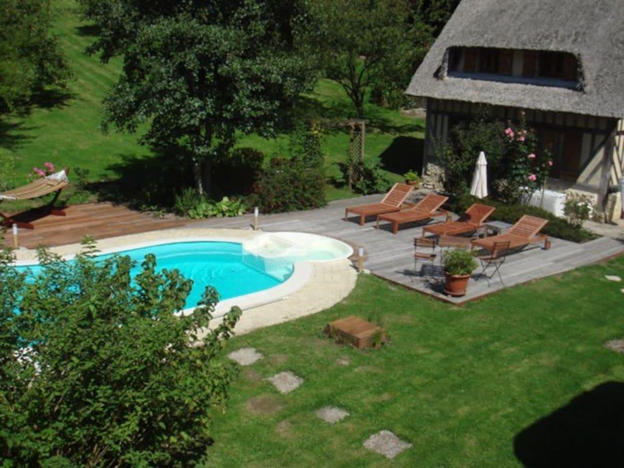 La chaumi re vauquelin maisons louer saint andr d for Location maison avec piscine en normandie