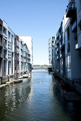 Jump directly into the canal from the livingroom and take a swim