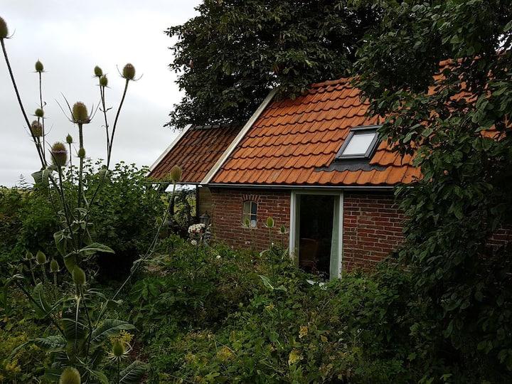 Pieterburen, tuinhuisje met prachtig uitzicht.