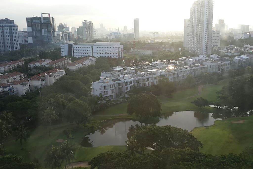 Golf course view from main bed room