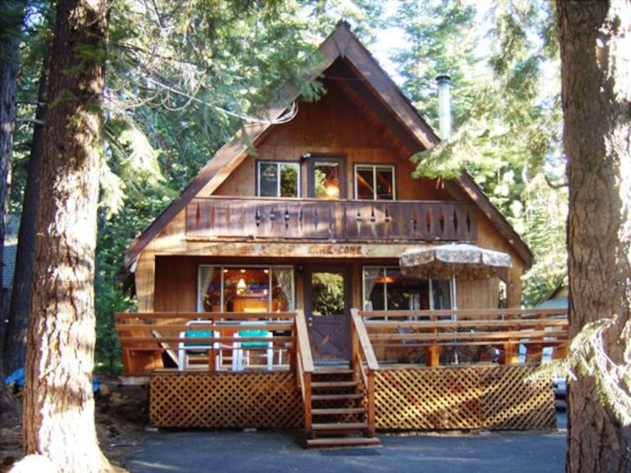 Welcome to Pine Cone!  Classic A-frame with deck and balcony sleeps 15.