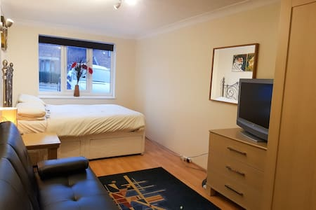 Modern 1 Bedroom Flat/Annex with Private Entrance