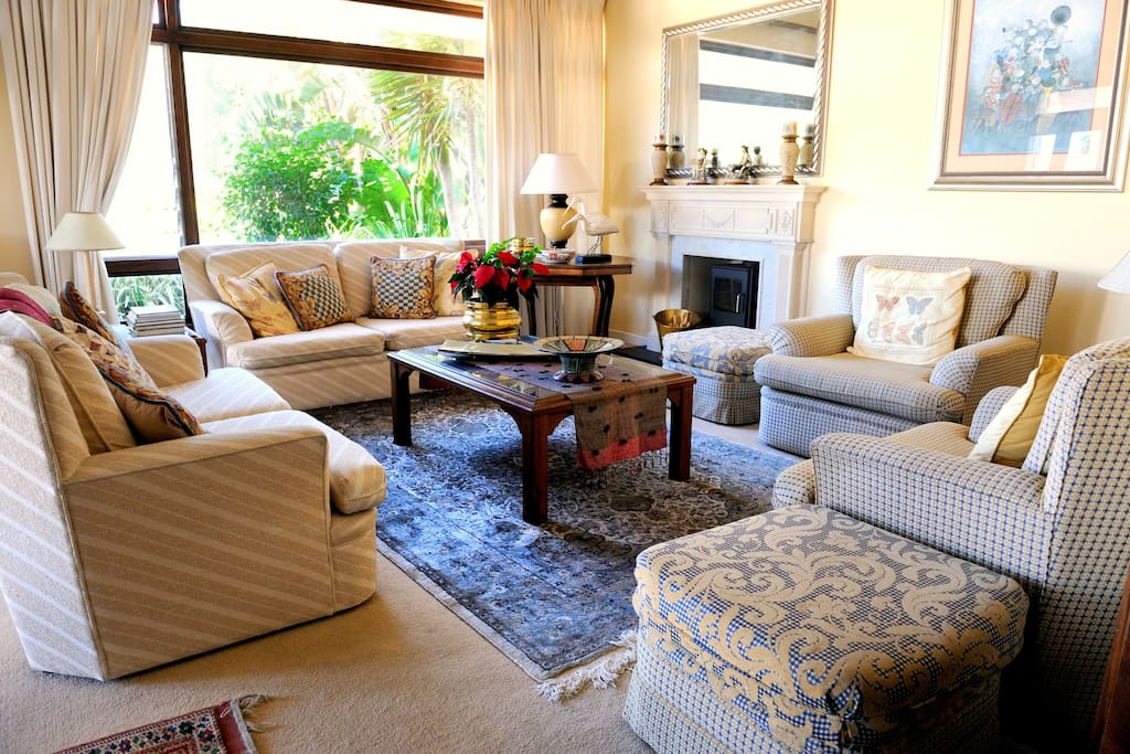 The beautiful guest lounge is situated just off the dining area.