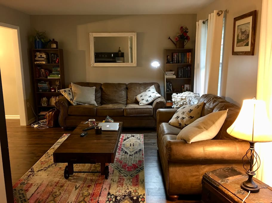 Living room with couches and TV