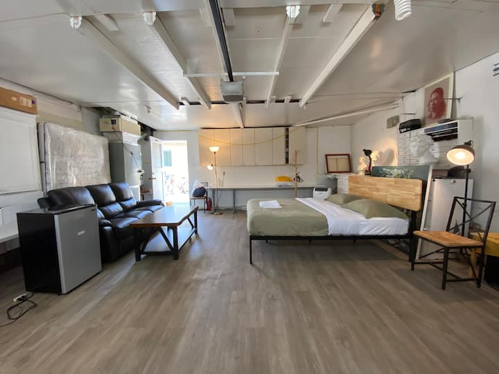 #7/Private and big Studio bedroom #7/Near Apple