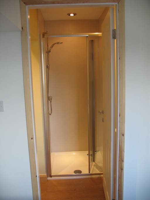 Nice big walk-in power shower
