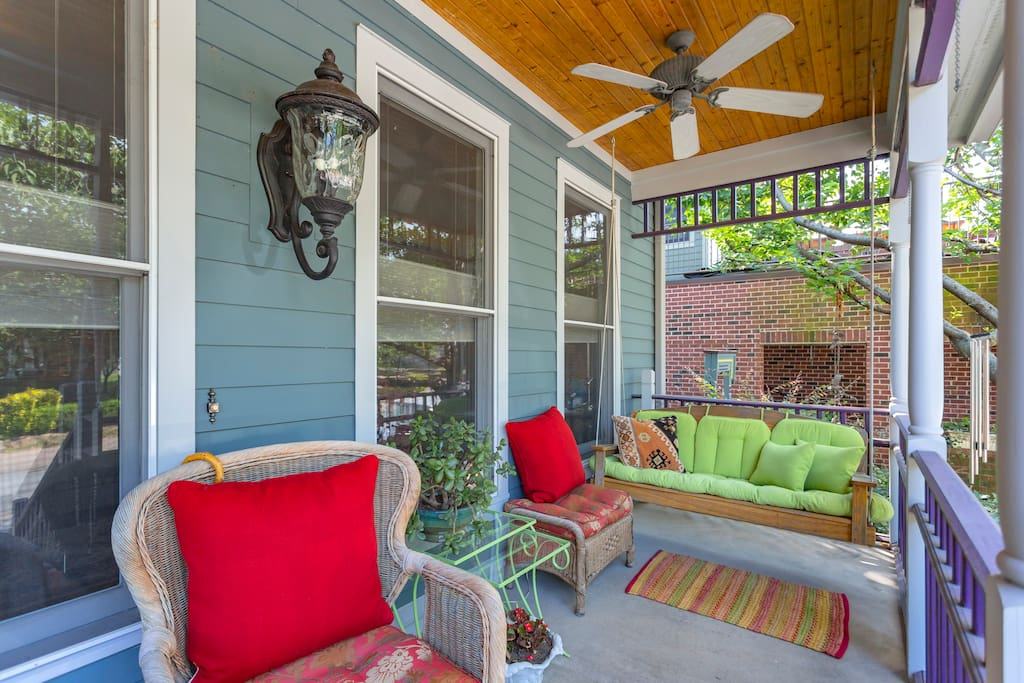 Our Guests love sitting and swinging on the front porch!