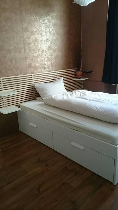 Das Schlafzimmer. Aktuell ist nur dieses verfügbar!