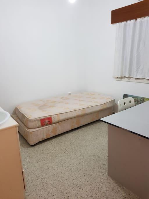 Bedroom 1: single bed