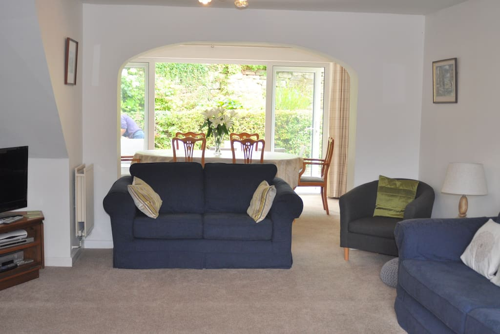 Large double aspect sitting room with plenty of seating