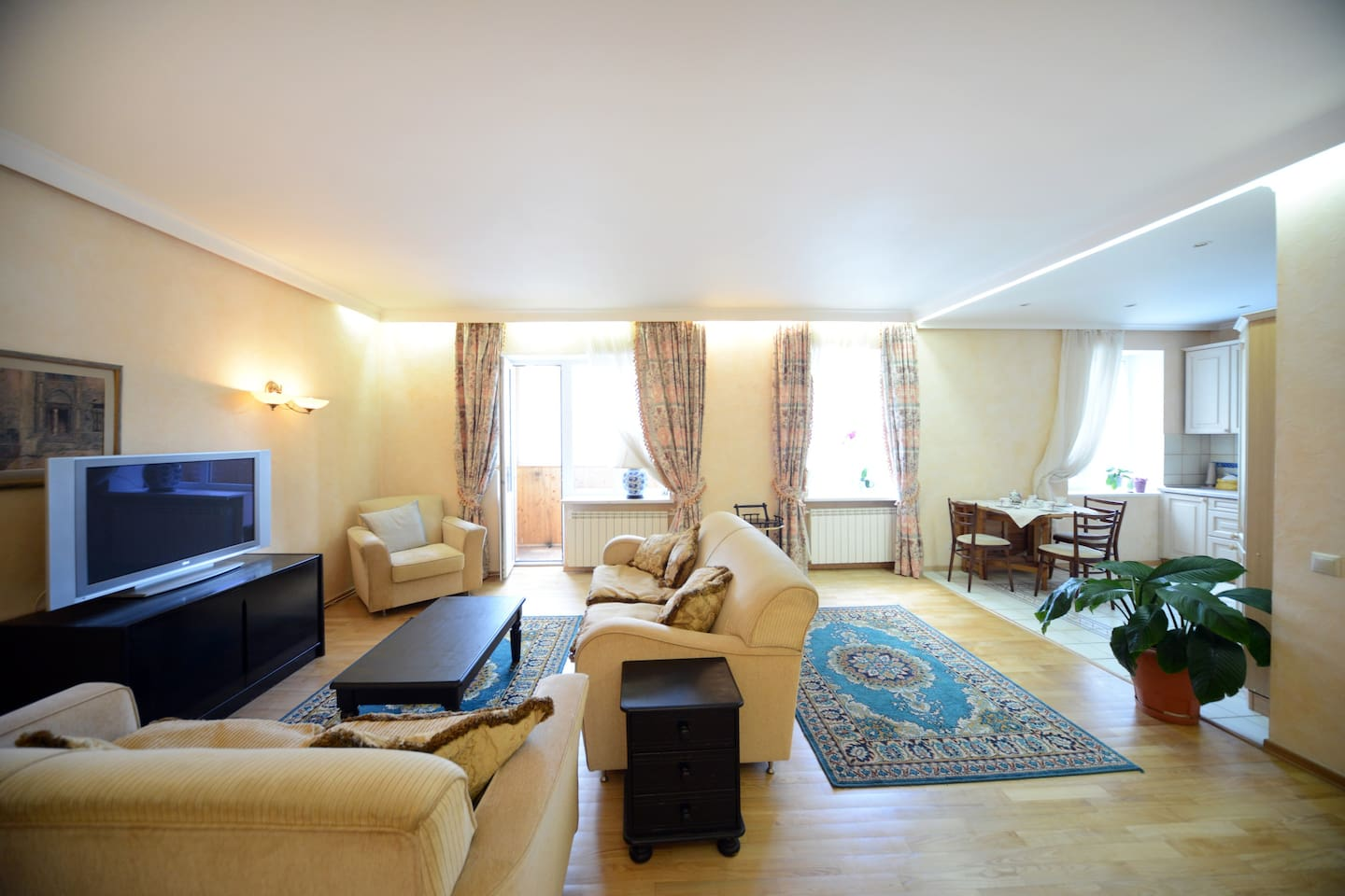 In a large and bright living room - you'll feel right at home