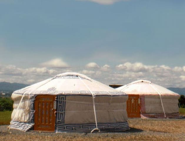 5 minutes by car from Asahiyama Zoo! Stay in the Mongolian gel under the full sky starry sky!