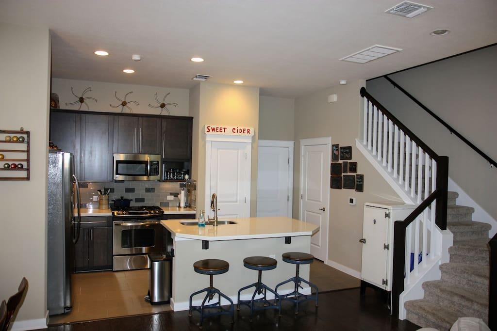 Downstairs kitchen area