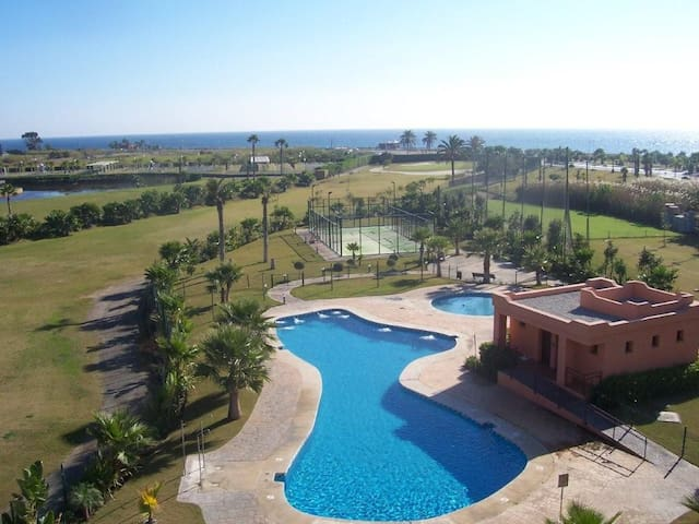 atico overlooking golf and sea ,fabulous location