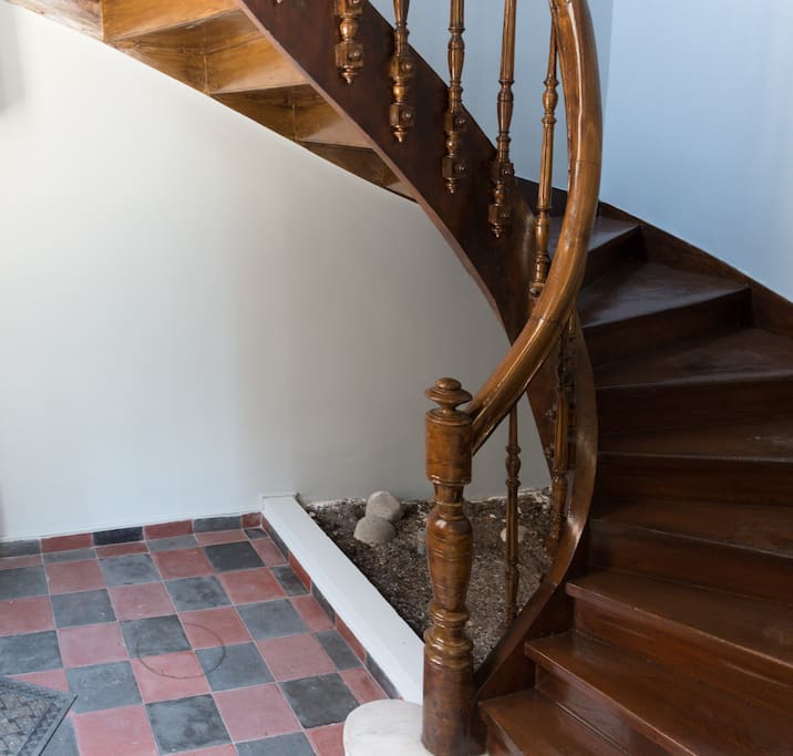 Vintage staircase leading to the 1st floor