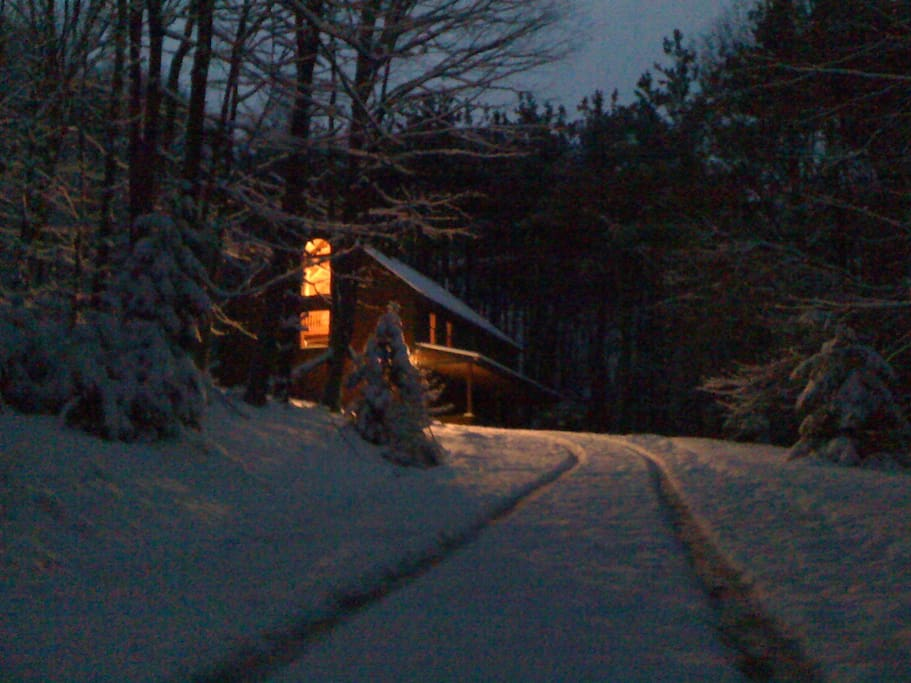 Our beautiful cabin in a winters wonderland