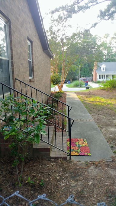 Walkway or side entrance to home.