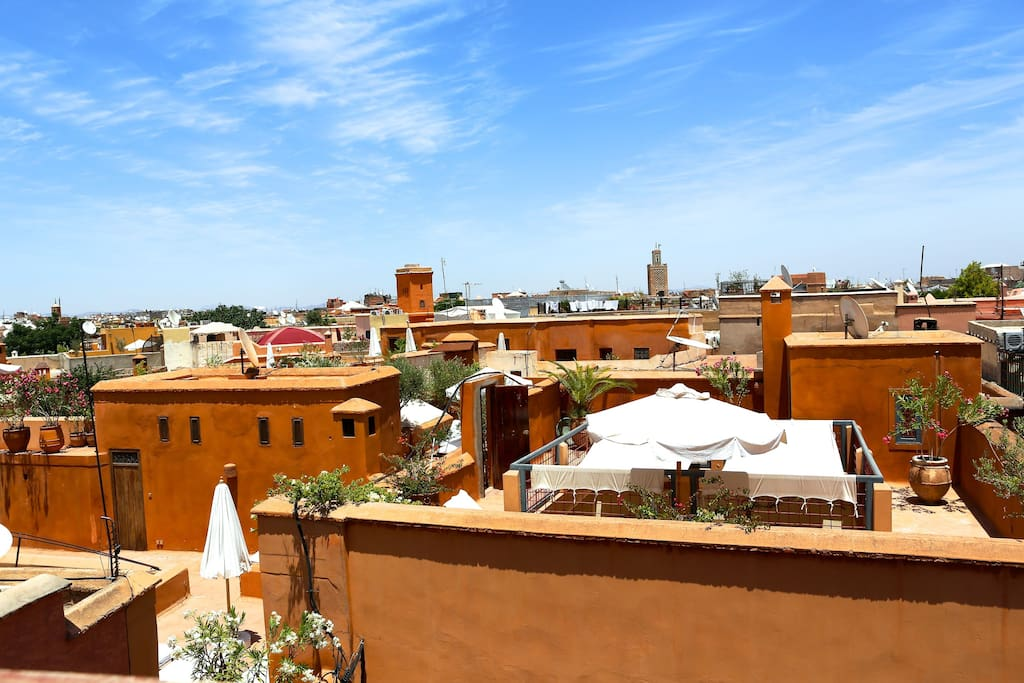 360 degree views over Marrakech and the Atlas mountains