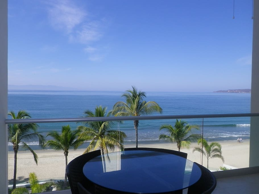 Your view every day calm water sandy beaches and whale in the season and dolphin all year round,