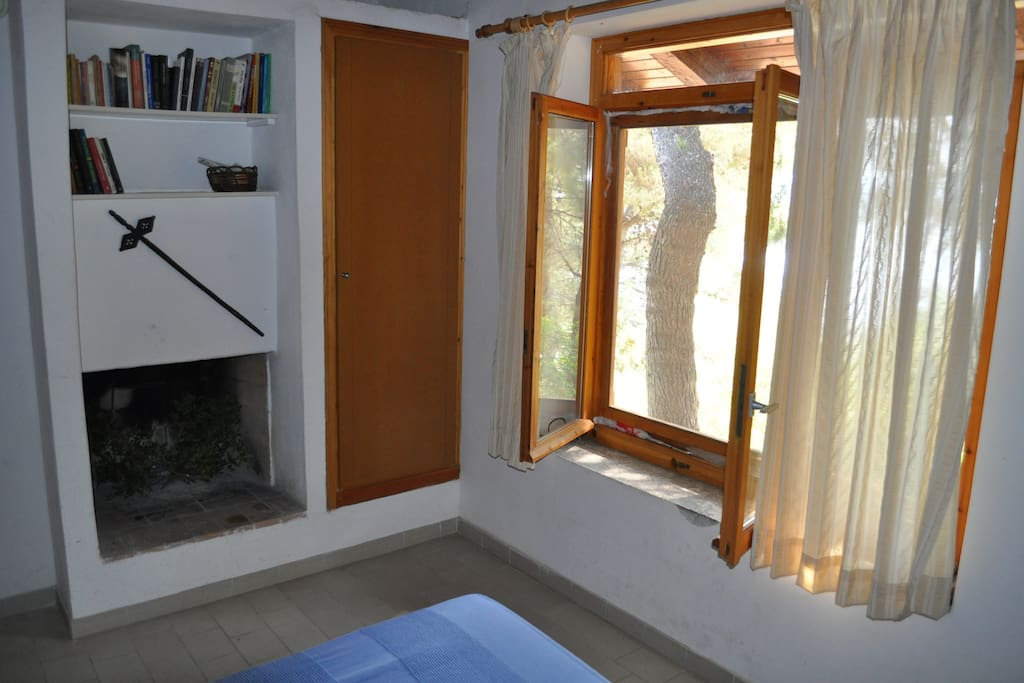 Master bedroom's fireplace