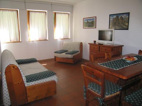 Przytulne mieszkanie u stóp Marmolady