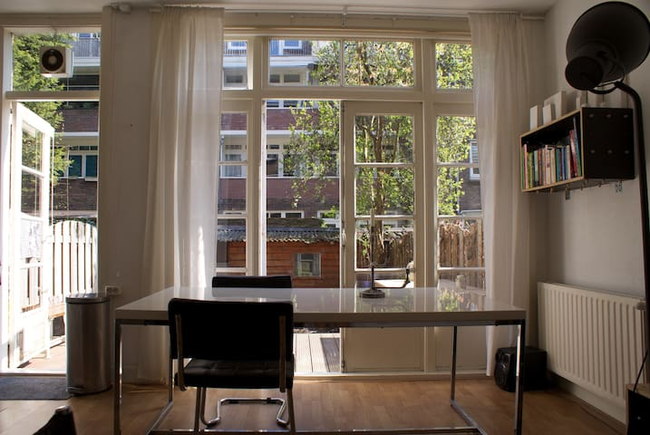 Lovely studio with garden and wooden terrace - Rotterdam - Lägenhet
