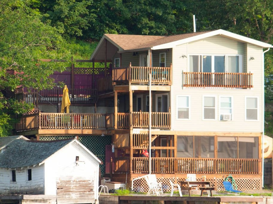 Great view of Our Lakehouse from the lake