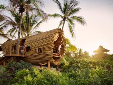 Beach Front Bamboo Treehouse - Zihuatanejo - Baumhaus