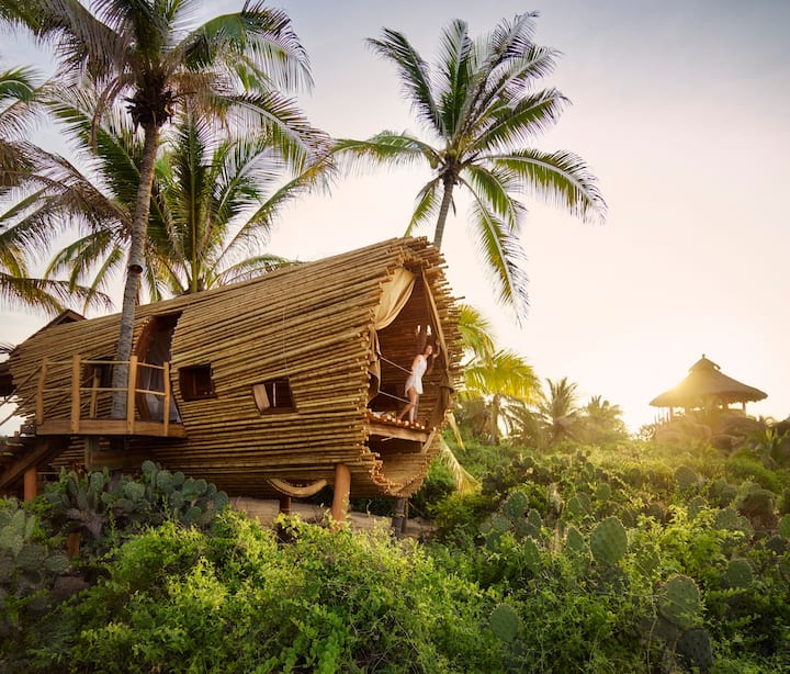 Beach Front Bamboo Treehouse