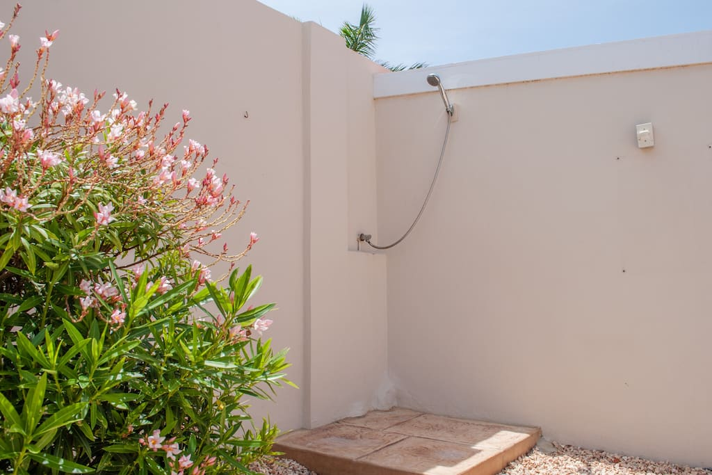 The outside shower