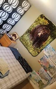 Chill private basement room in fun 420 house