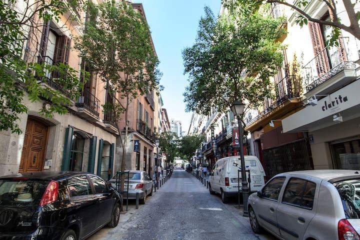Calle cercana al alojamiento