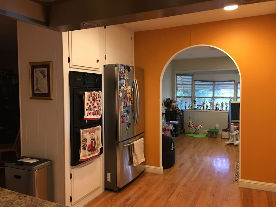 Kitchen and toy room