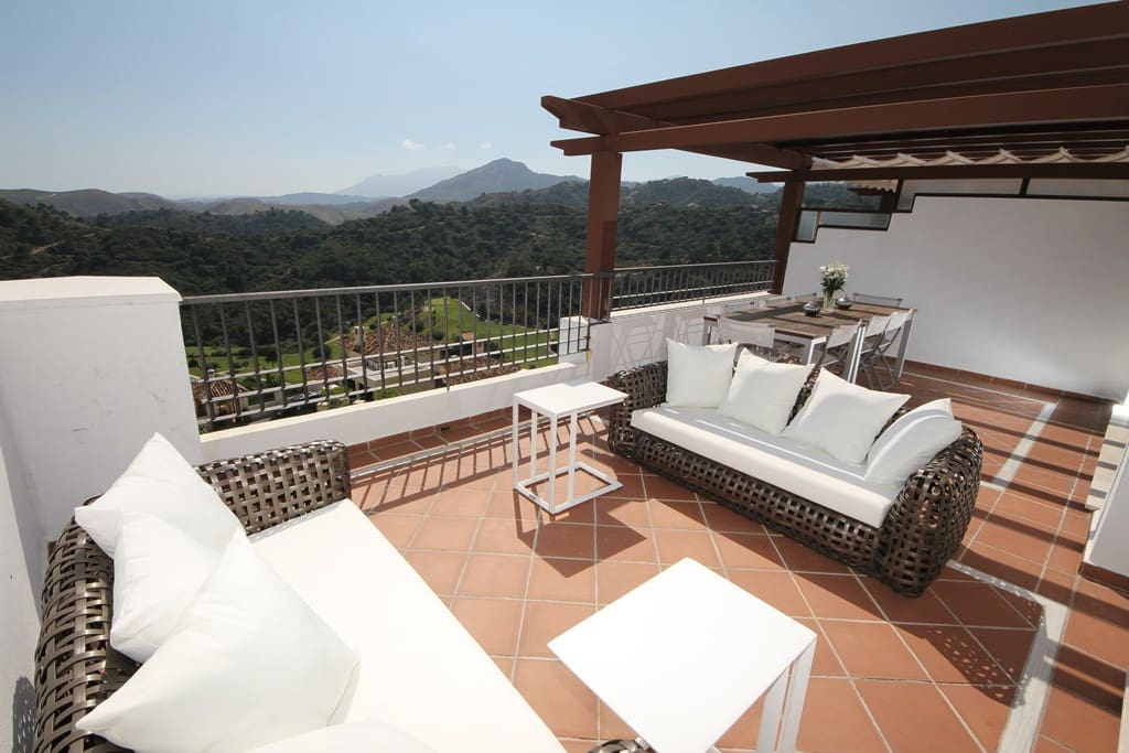 Terrace with mountain view