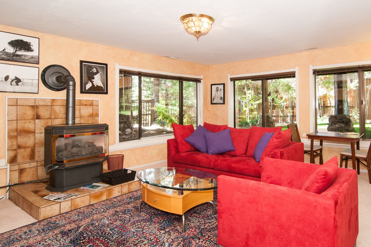 Private family room on lower level