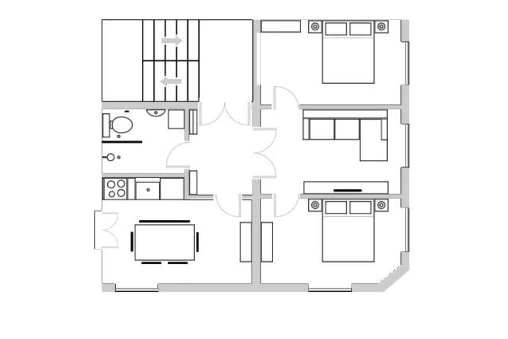 Entrance hall, bathroom, kitchen, lounge, 2 x double bedrooms