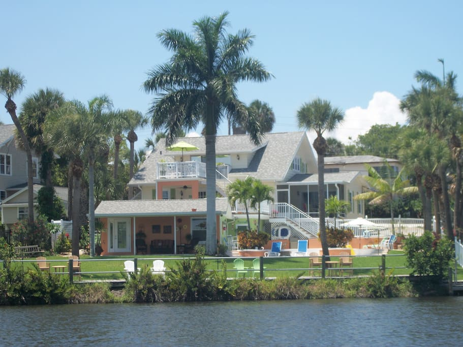 Osprey is located at top of Inn. You can see the deck just under the Royal Palm.