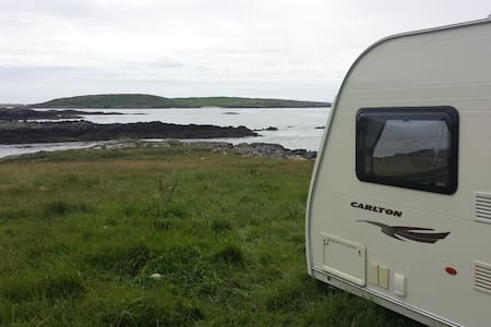 Caravan with stunning seascape view - Clifden - Inny