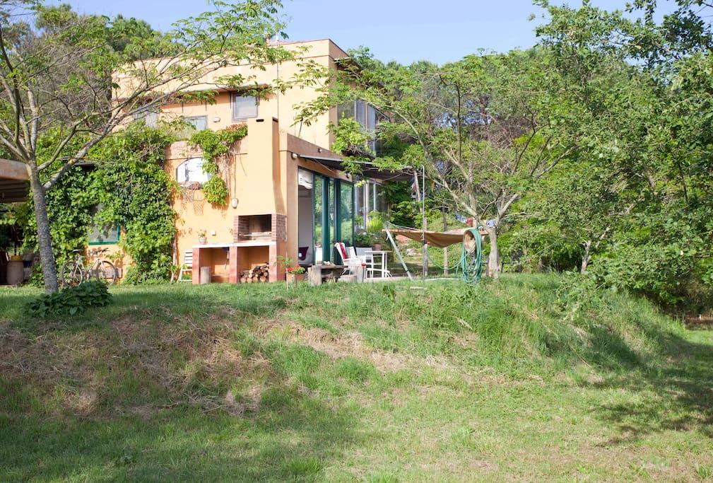 bio-apartament rural de Can Pol de les Bòries, terrassa i jardí