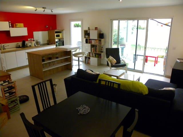 Grand appartement calme et fonctionnel avec jardin - Tain-l'Hermitage - Kondominium