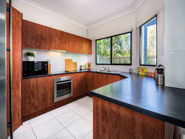 Extra-large and fully-stocked kitchen with everything you need to enjoy a meal