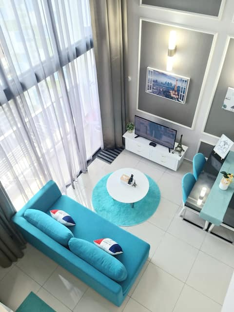 I-CITY PENTHOUSE (WIFI, ANDROID TV BOX & PARKING)