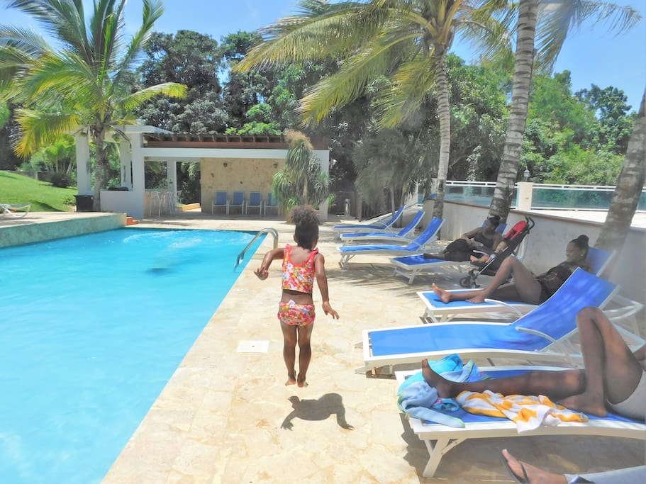 Big swimming pool in the Villa