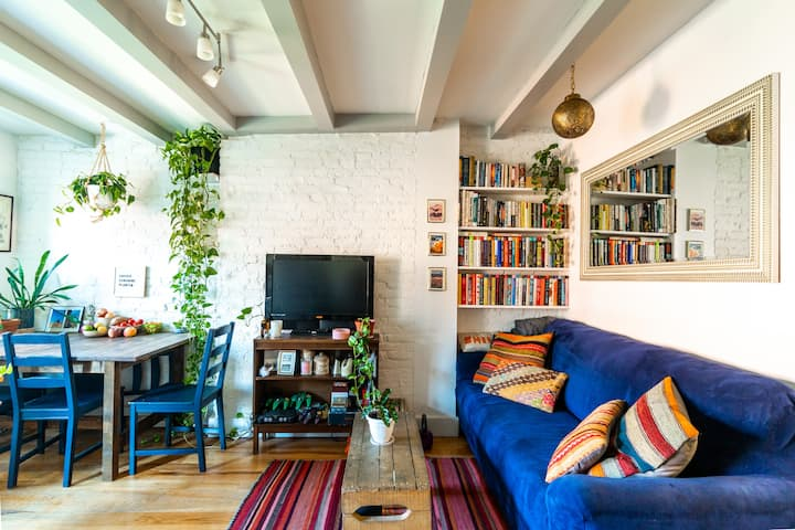 Plant-filled Brooklyn Brownstone Apartment