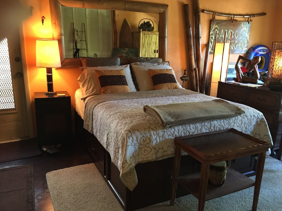 Bamboo Room with new comfy Queen bed