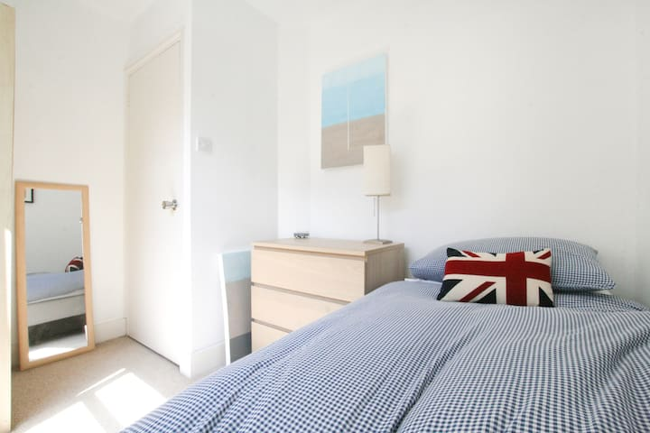 Bright Sunny Single bedroom available too!   For groups of 3, or if you prefer some personal space my single room is available too